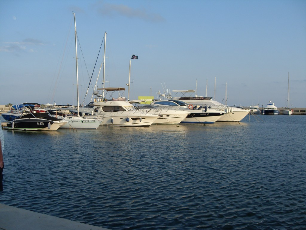 View of boats at Marina Dinevi