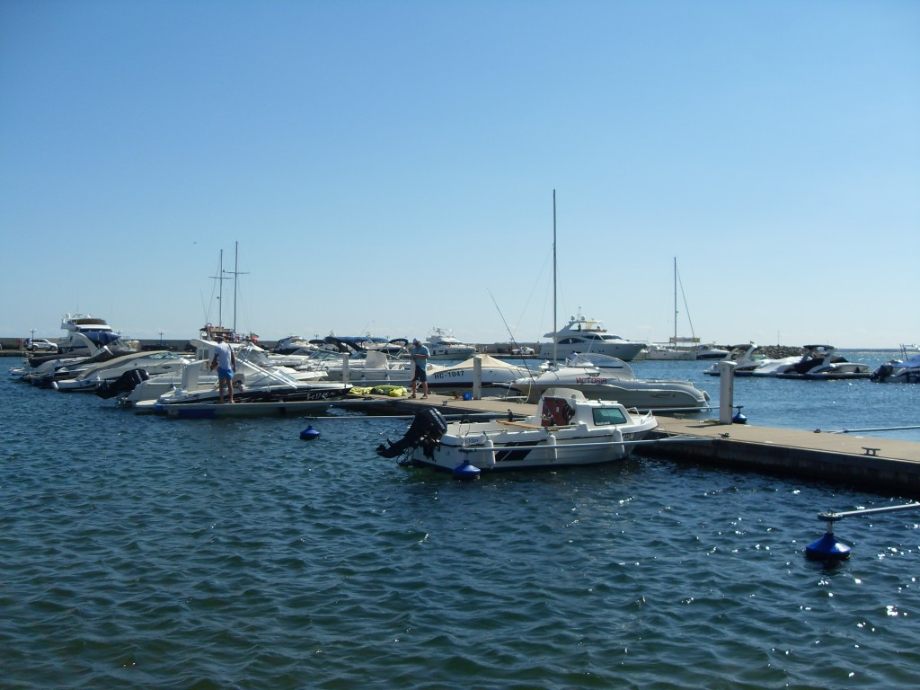 View of boats