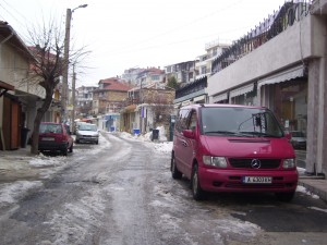 Road to Vlas square