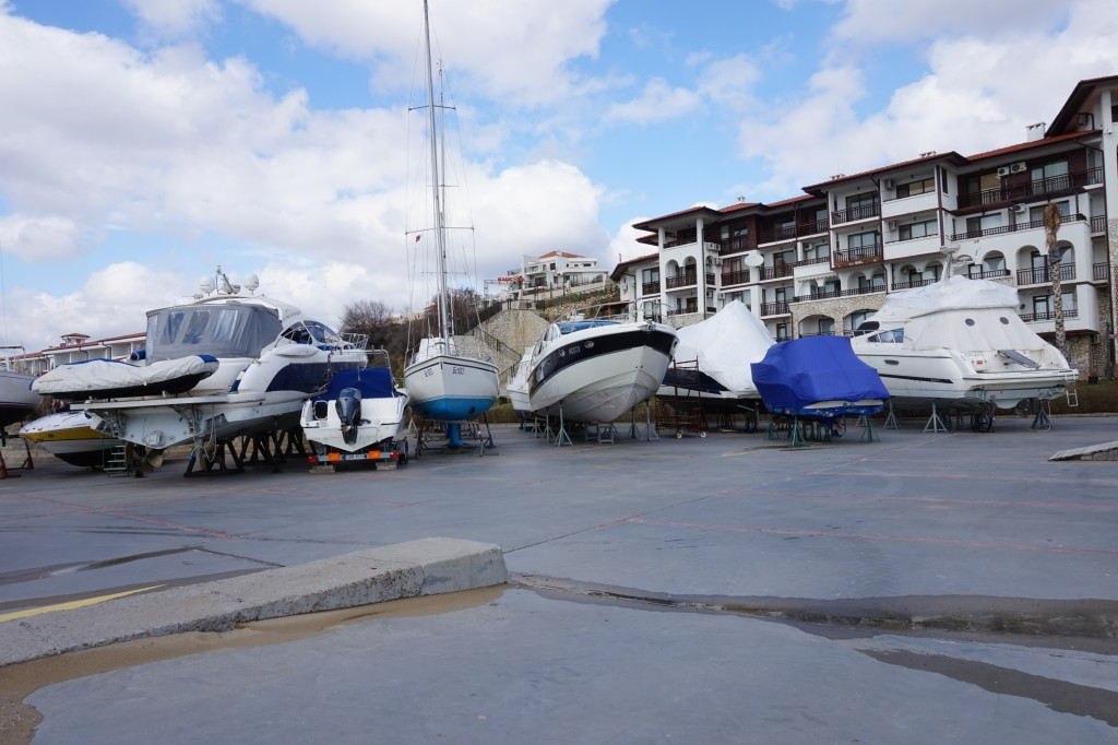 Boats out of water for winter