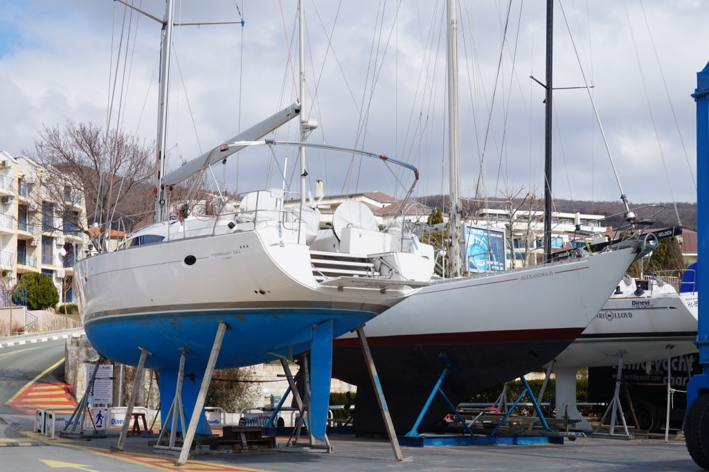 Boats in dry dock Mar 2015