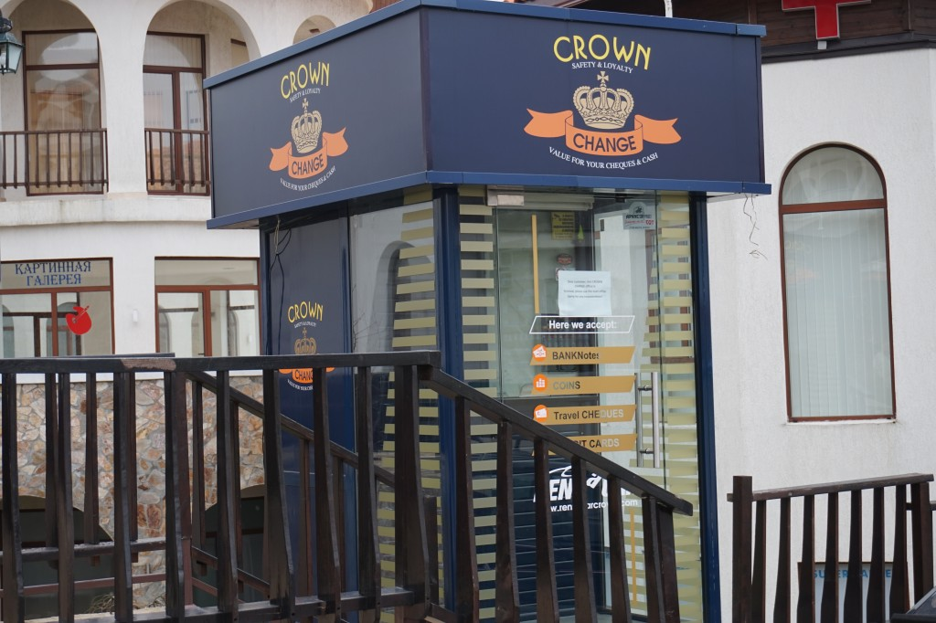 Crown change kiosk in St Vlas