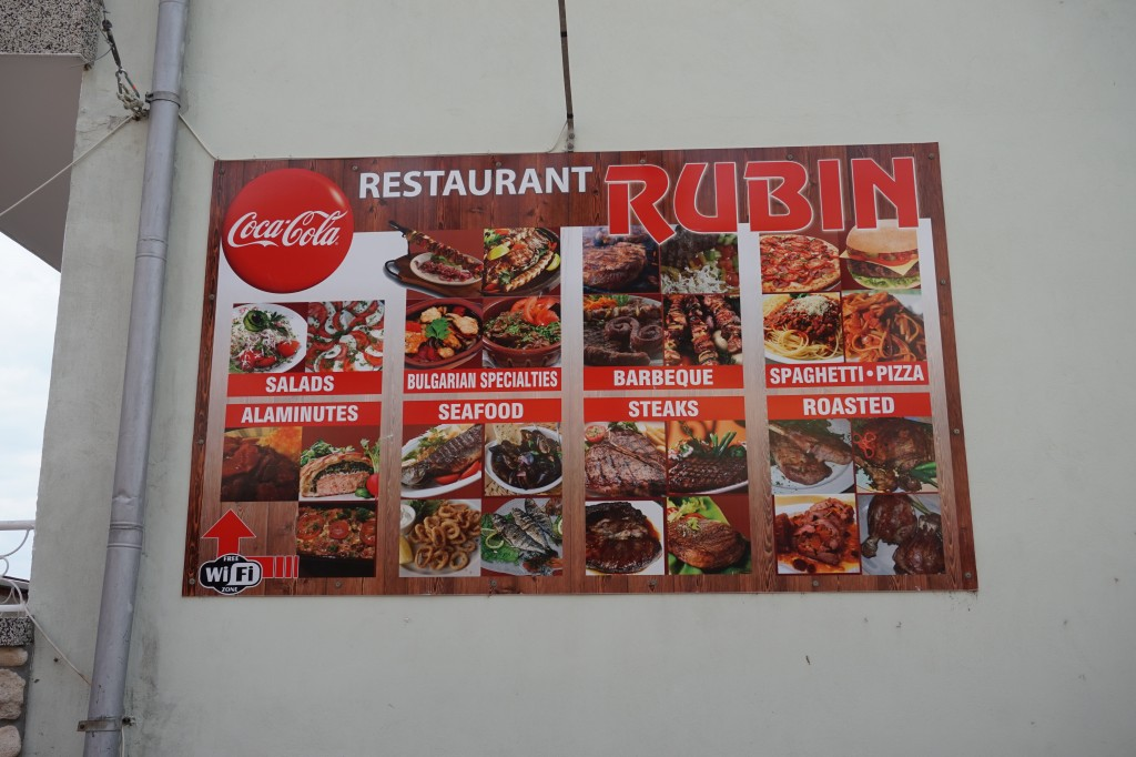 Restaurant Rubin dishes