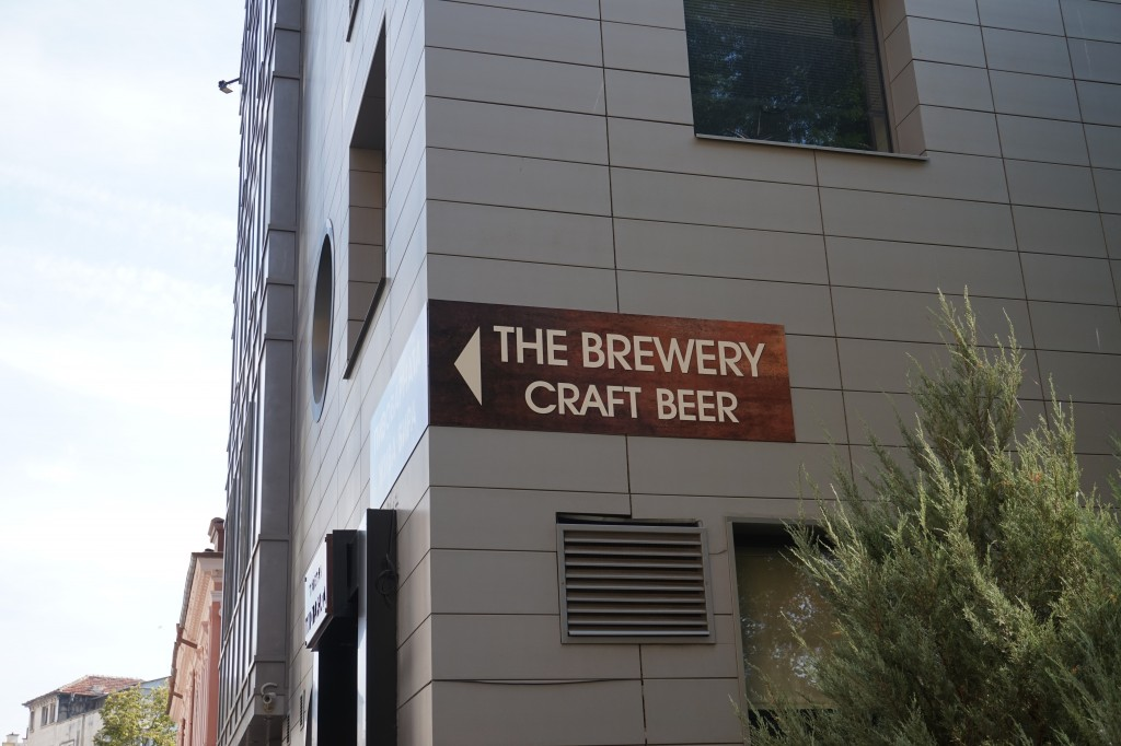 Sign to Brewery Craft Beer