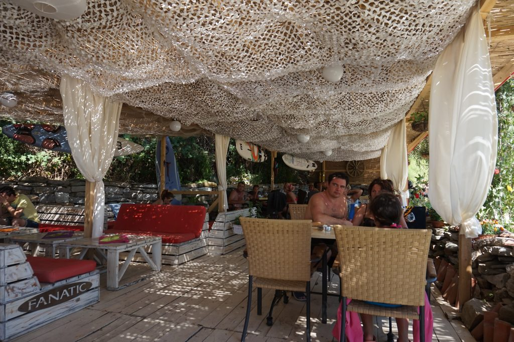Inside shot of beach bar