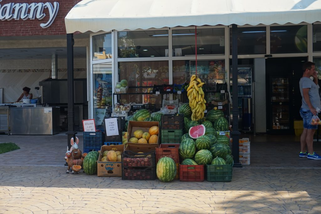 Fruit shop next to Restaurant Djanny